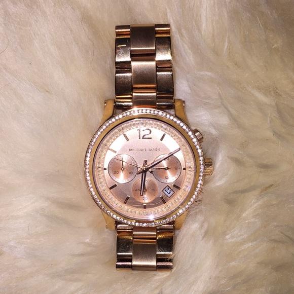 d3fe11c0c1a7 KORS Michael Kors Accessories - Michael Kors Rose Gold Watch